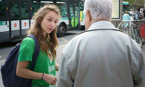 Une recruteuse de donateurs d'Oxfam France
